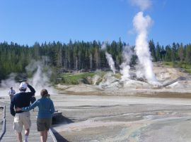 Taking a stroll at Norris Geyser Basin - Yellowstone