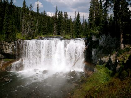 Iris Falls of Bechler River in Yellowstone National Park