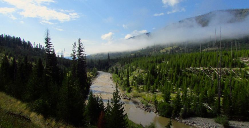 Lamer River, Backpacking, Yellowstone National Park